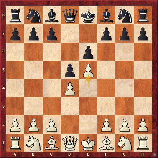 Вариант Нимцовича во французской защите возникает после ходов: 1. e4 e6 2. d4 d5 3. e5.