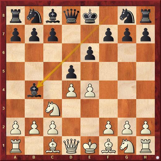 Вариант Винавера во французской защите возникает после ходов: 1. e4 e6 2. d4 d5 3. Nc3 Bb4