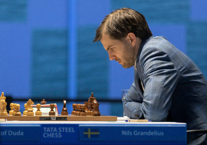 Шведский шахматист Нильс Гранделиус. Турнир Tata Steel Masters 2021, Вейк-ан-Зее