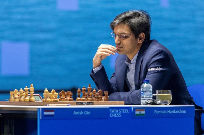Пентала Харикришна (рейтинг 2732). Шахматный турнир Вейк-ан-Зее 2021, тур 5