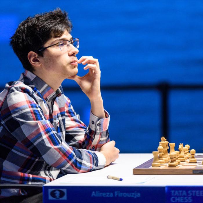 Алиреза Фируджа (страна - Иран, возраст - 17 лет, рейтинг - 2749). Шахматы Вейк-ан-Зее 2021, тур 7