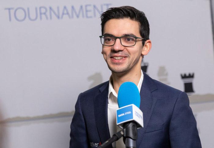 Аниш Гири (страна - Нидерланды, возраст - 26 лет, рейтинг - 2764). Шахматы Вейк-ан-Зее 2021, тур 7
