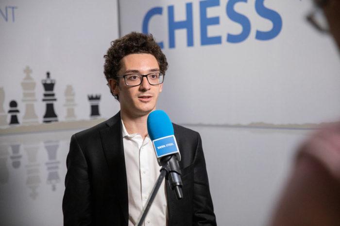 Фабиано Каруана (страна - США, возраст - 28 лет, рейтинг - 2823). Шахматы Вейк-ан-Зее 2021, тур 7