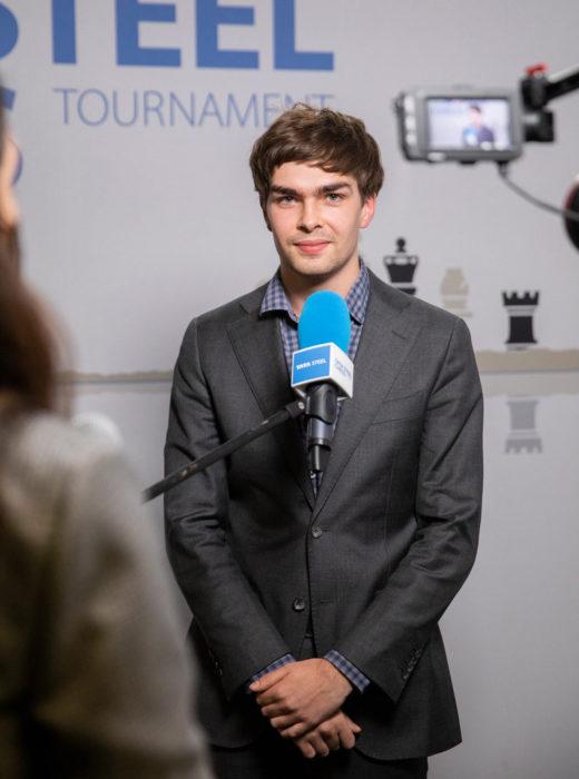 Йорден ван Форест (страна - Нидерланды, возраст - 21 год, рейтинг - 2671). Шахматы Вейк-ан-Зее 2021, тур 7