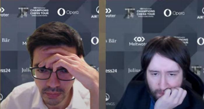 Аниш Гири и Теймур Раджабов | Тур чемпионов 2021. Фрагмент онлайн-трансляции на канале Levitov Chess