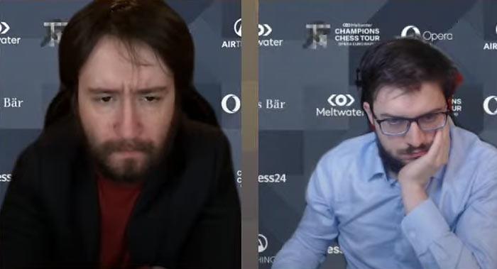 Теймур Раджабов и Максим Вашье-Лаграв | Фрагмент онлайн-трансляции тура чемпионов Opera Euro Rapid 2021
