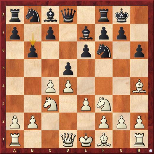 Ход 7...b6 - прямолинейная и естественная попытка черных решить проблему ферзевого слона в отказанном ферзевом гамбите