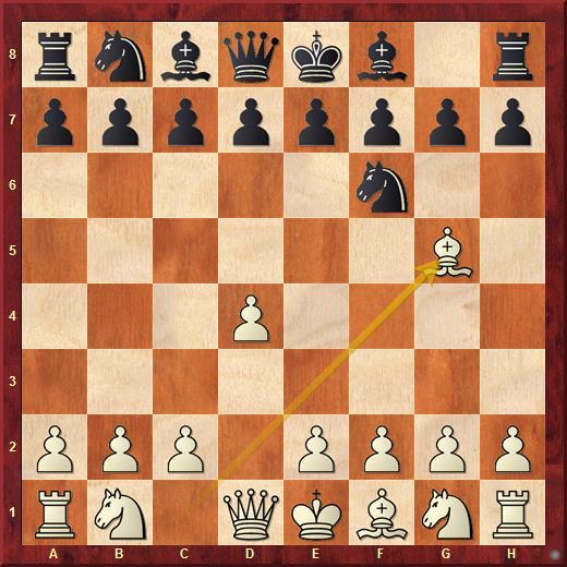 Атака Тромповского (шахматы): 1. d4 Nf6 2. Bg5