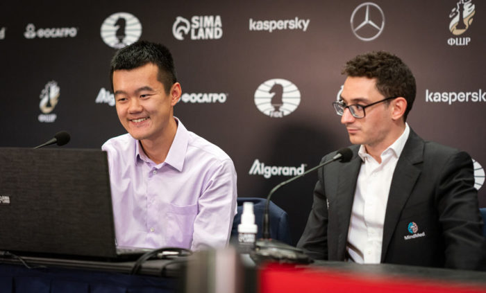 Дин Лижэнь и Фибиано Каруана. Турнир претендентов по шахматам 2020-2021, Екатеринбург