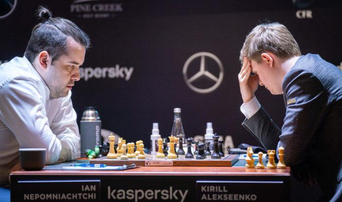 Турнир претендентов по шахматам 2020-2021. Ян Непомнящий и Кирилл Алексеенко