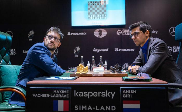 Максим Вашье-Лаграв и Аниш Гири. Турнир претендентов в Екатеринбурге 2021