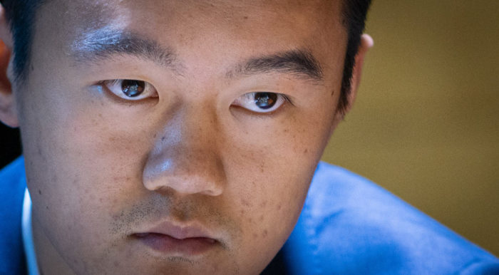 Китайский шахматист Дин Лижэнь на турнире претендентов по шахматам 2020-2021 в Екатеринбурге (тур 11)