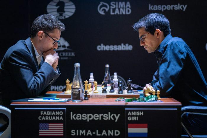 Фабиано Каруана и Аниш Гири. Турнир претендентов по шахматам 2020-2021, Екатеринбург