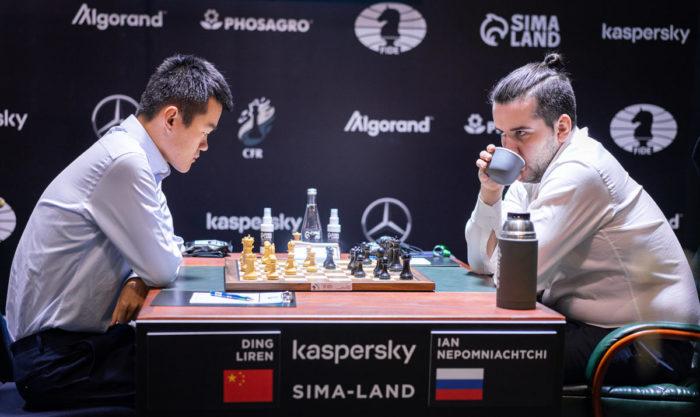 Дин Лижэнь и Ян Непомнящий. Турнир претендентов по шахматам 2020, Екатеринбург