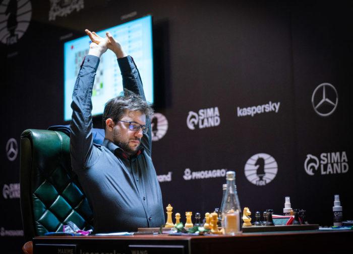 Максим Вашье-Лаграв. Турнир претендентов по шахматам 2020-2021 (тур 14)