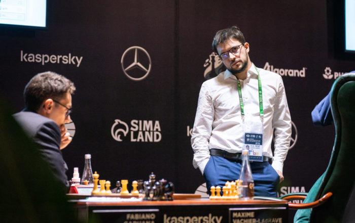 Турнир претендентов по шахматам 2020-2021. Фабиано Каруана (США) и Максим Вашье-Лаграв (Франция)