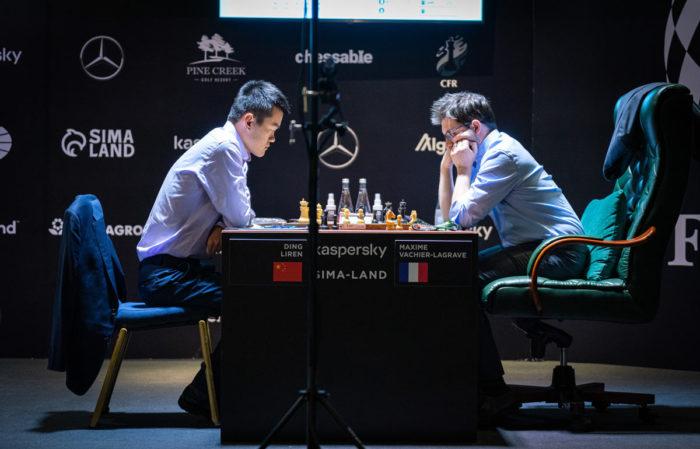 Турнир претендентов по шахматам 2020-2021. Дин Лижэнь и Максим Вашье-Лаграв