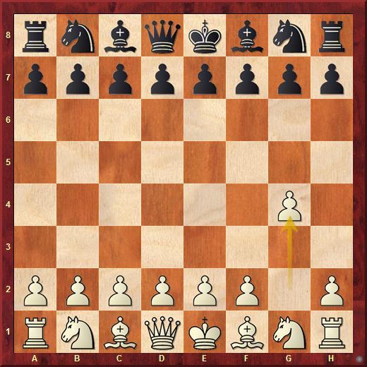 Дебют Гроба начинается ходом 1.g2-g4