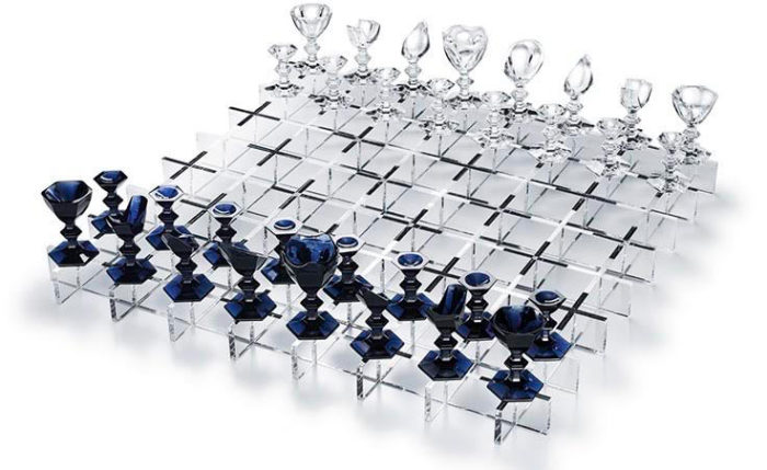 Дорогие шахматы Baccarat Crystal Chess Set - €270,723
