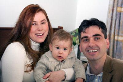 Юдит Полгар с мужем и сыном Оливером