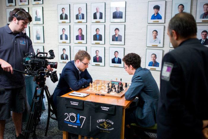 Ярослав Жеребух и Фабиано Каруана на чемпионате США 2017