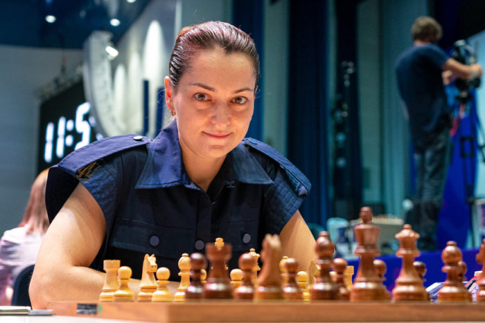 Шахматистка Александра Костенюк на Кубке мира 2021 среди женщин в Сочи