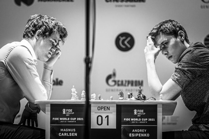 Магнус Карлсен и Андрей Есипенко. Кубок мира по шахматам 2021, Сочи