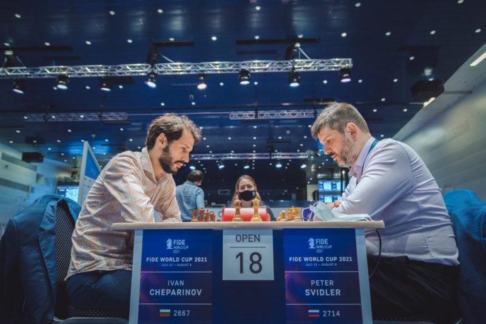 Иван Чепаринов (Болгария) и Петр Свидлер (Россия) - Кубок мира 2021 по шахматам, Сочи
