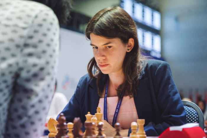 Юлия Осьмак на Кубке мира ФИДЕ 2021 (Сочи)