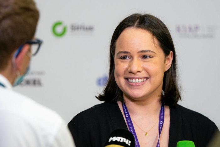 Шахматистка из ЮАР Джесс Никки Фебруари (Сочи, 2021)
