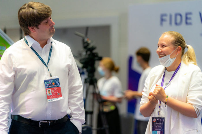 Павел Понкратов и Валентина Гунина на Кубке мира ФИДЕ 2021 (Сочи)