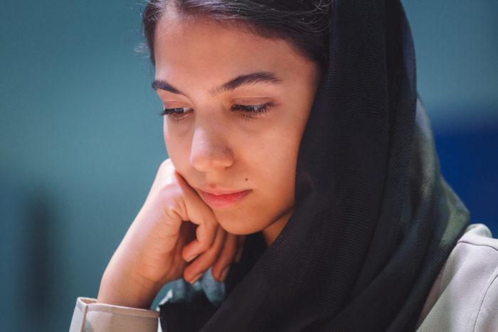 Иранская шахматистка Сарасадат Хадемальшарьех (سارا سادات خادم الشریعه)