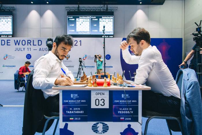 Шахматисты Амин Табатабаи и Владимир Федосеев