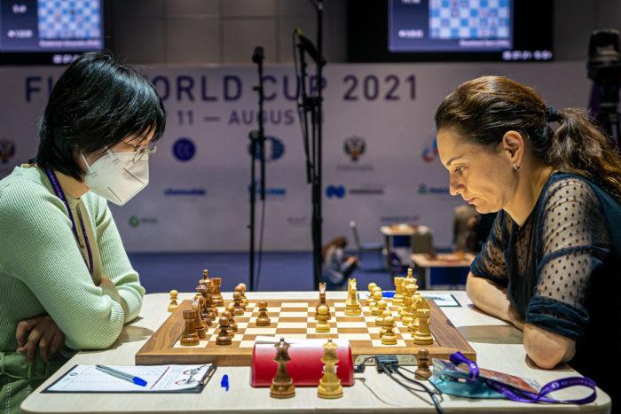 Тань Чжунъи и Александра Костенюк. Кубок мира ФИДЕ 2021 среди женщин в Сочи