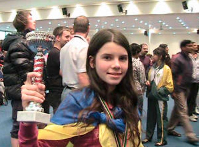 Юлия Осьмак - чемпионка мира среди девушек в категории U12 (Греция, 2010)