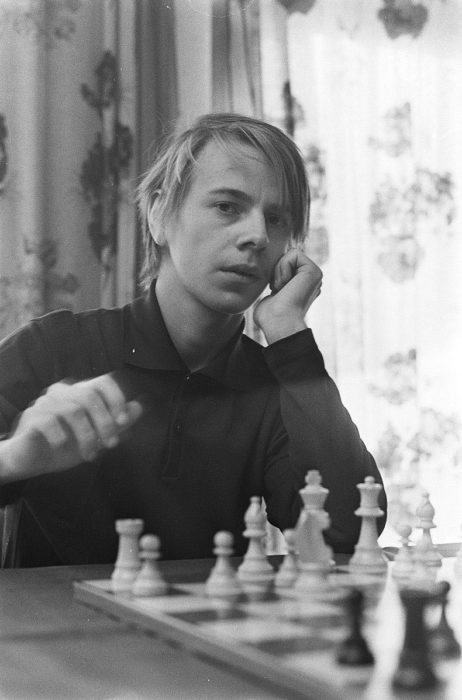 Шахматист Ульф Андерссон в 1971 году