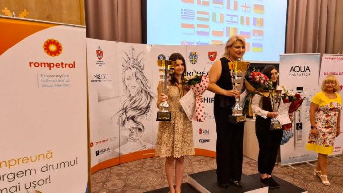 Слева направо: Юлия Осьмак (2 место), Элина Даниелян (1 место), Оливия Кёлбаса (3 место)