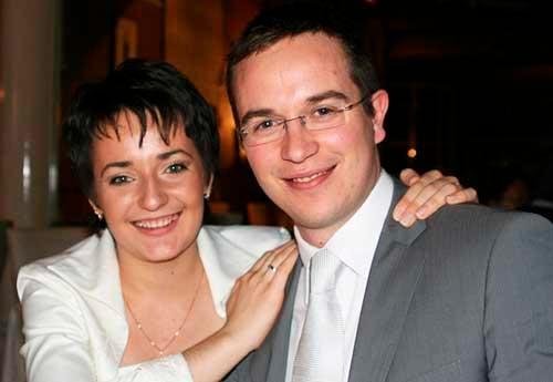 Свадебная фотография Екатерины Лагно и Робера Фонтена (2009)