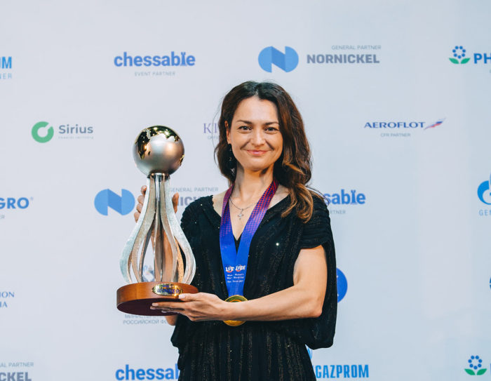 Александра Костенюк - обладательница Кубка мира ФИДЕ 2021 среди женщин