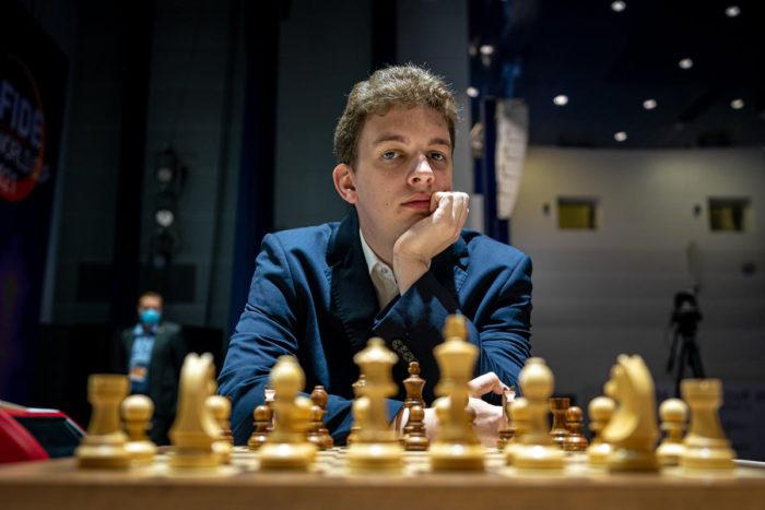 Польский гроссмейстер Ян-Кшиштоф Дуда. Кубок мира 2021 по шахматам в Сочи