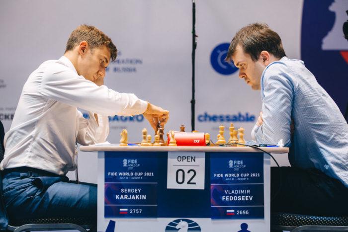 Сергей Карякин и Владимир Федосеев