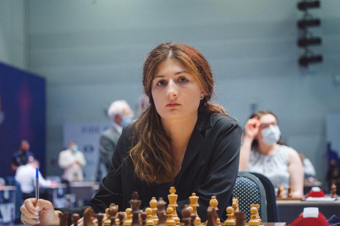 Грузинская шахматистка Нино Бациашвили (груз. ნინო ბაციაშვილი)