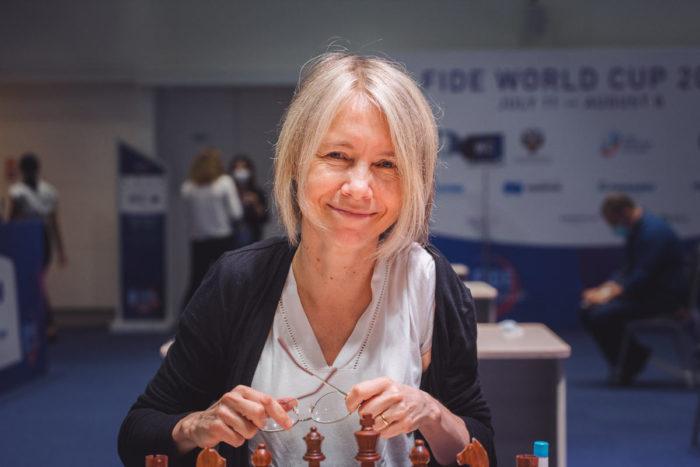 Шведская шахматистка Пиа Крамлинг (швед. Pia Cramling)