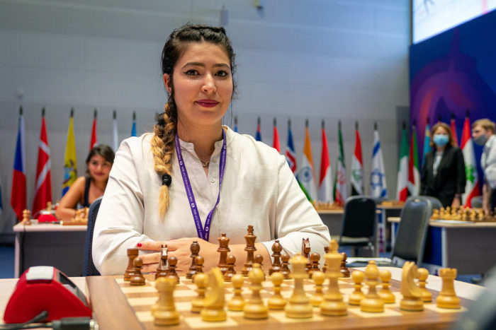 Алжирская шахматистка Сабрина Латреш (фр. Sabrina Latreche)