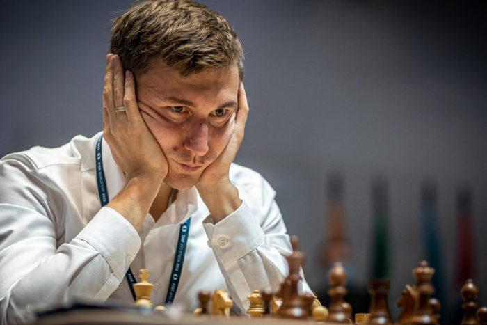 Российский шахматист Сергей Карякин на Кубке мира ФИДЕ 2021 по шахматам в Сочи