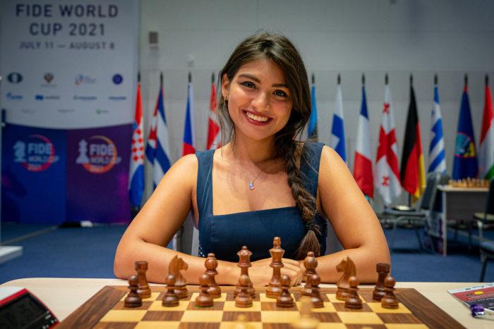 Венесуэльская шахматистка Тильсия Каролина Варела Ла Мадрид (Tilsia Carolina Varela La Madrid)