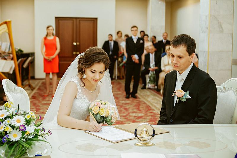 Церемония бракосочетания Кашлинской и Войташека