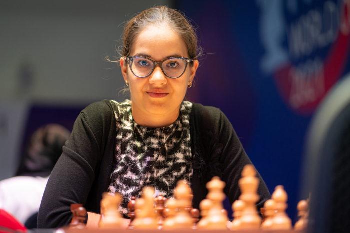 Шахматистка Алина Кашлинская (Россия)