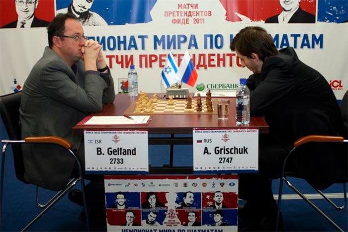 Борис Гельфанд и Александр Грищук (Казань, 2011)