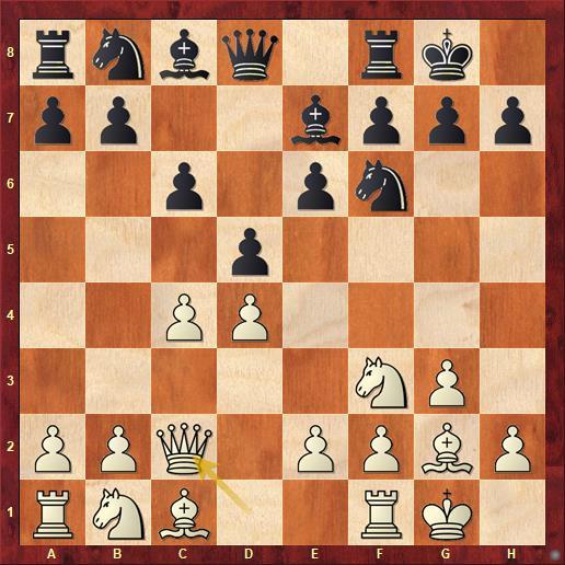 Закрытый каталон. Белые защищают пешку с4, а также готовят прорыв e2-e4